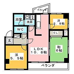 丸美シャトー大須 901号[9階]の間取り