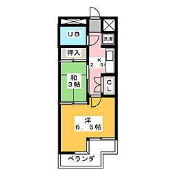 メゾンエイムス[4階]の間取り