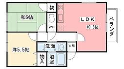 アネシス愛宕山I・II[1-102号室]の間取り