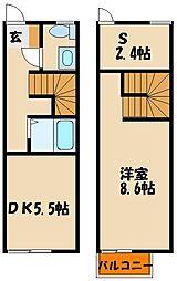 [テラスハウス] 兵庫県明石市東人丸町 の賃貸【/】の間取り