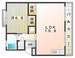 第1林マンション[3階]の間取り