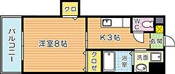 クレール花音[402号室]の間取り