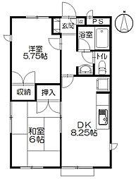 チェリーハウス小和田[1階]の間取り