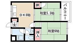 愛知県名古屋市守山区町北の賃貸マンションの間取り