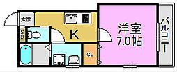 TKアンバーコート堺東[5階]の間取り
