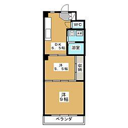 長束セカンドビル[1階]の間取り