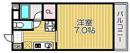 Osaka Metro谷町線 大日駅 徒歩13分の賃貸マンション 4階1Kの間取り