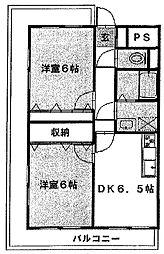 ラフィーヌ・有川壱番館[305号室]の間取り
