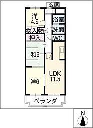 Comfort大井手[3階]の間取り