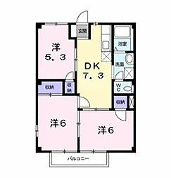 ラフォーレ西条 B棟[1階]の間取り