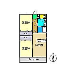 エスペランサI[1階]の間取り