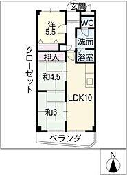 コーキマンション大治[1階]の間取り
