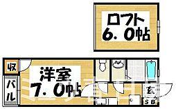 福岡県春日市宝町2丁目の賃貸アパートの間取り
