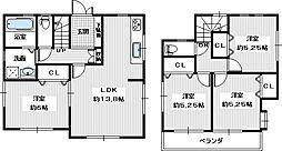 泉南市新家・一戸建て 4LDKの間取り