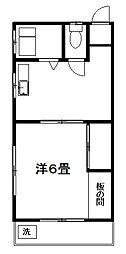 中原サニーハイツ[2階]の間取り