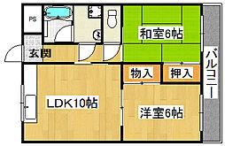 ハイム山田[2階]の間取り
