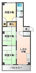 江坂グリーンハイツ[5階]の間取り