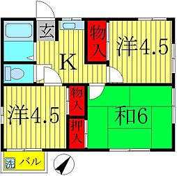コーポヨシダ[2階]の間取り
