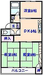 マンションなしや1号棟[3階]の間取り