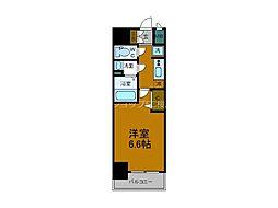 Osaka Metro中央線 阿波座駅 徒歩5分の賃貸マンション 7階1Kの間取り