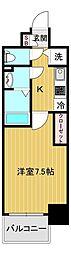 エスリード大阪城アクシス 13階1Kの間取り