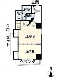 エルブ葵[3階]の間取り