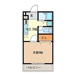 三重県鈴鹿市鈴鹿ハイツの賃貸マンションの間取り