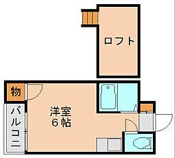 シャミー箱崎I[2階]の間取り