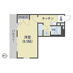 埼玉県草加市草加3丁目の賃貸マンションの間取り