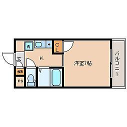 大阪府東大阪市小阪2丁目の賃貸マンションの間取り