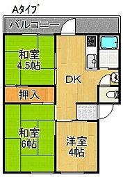 シャトーポール[3階]の間取り