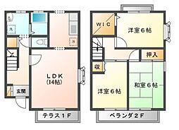 東京都小金井市前原町5丁目の賃貸アパートの間取り