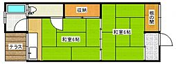 稲益荘[5号室号室]の間取り
