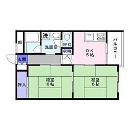 コーポ塚本北館[3階]の間取り