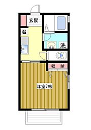 シャーメゾン六甲[1階]の間取り