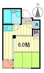 中山ファームアパートメント南棟bt[203号室]の間取り