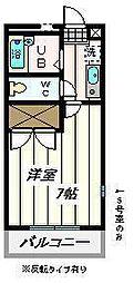 埼玉県さいたま市岩槻区南辻の賃貸マンションの間取り