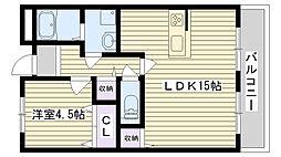 第5渡部ビル[2F103号室]の間取り