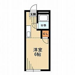 東京都杉並区梅里1の賃貸マンションの間取り