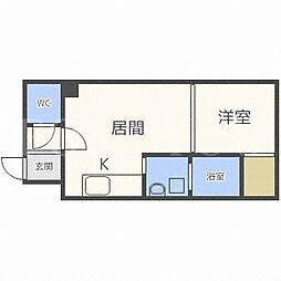 北海道札幌市東区北十三条東2丁目の賃貸マンションの間取り