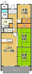 インペリアル樋ノ口[3階]の間取り