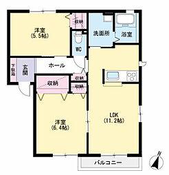 ボヌールII[2階]の間取り
