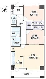 旭ビル21[7階]の間取り