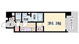 プレサンス新神戸[406号室]の間取り