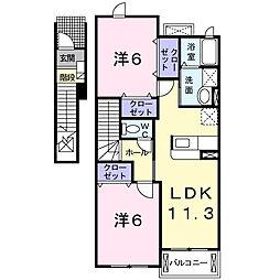 ガレーネーV[2階]の間取り