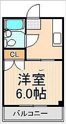 第3青山マンション[107号室]の間取り
