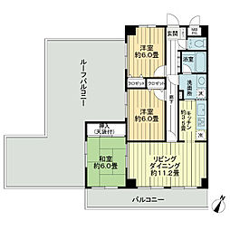 ライオンズマンション船橋飯山満台一番館[4階]の間取り