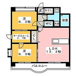 ナウ ヴィレッジ[2階]の間取り
