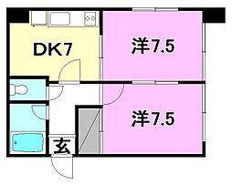 レーベンイケダ第3 ビル[101 号室号室]の間取り