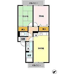 メゾンアルカディア[2階]の間取り
